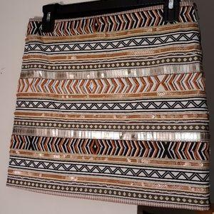 XOXO Size 3/4 Sequin & Beaded Mini Skirt